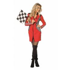 Pitspoes jurk rood