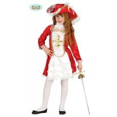 Meisjes Musketier kostuum