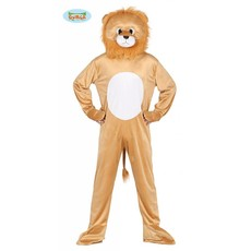 Pluche leeuw kostuum man