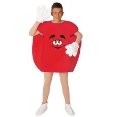 M&M Kostuum Volwassenen Rood