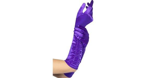 Paarse handschoenen