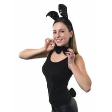 Bunnyset zwart 3-delig