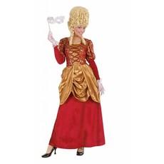 Barones jurk vrouw rood