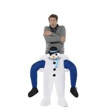 Gedragen door sneeuwman kostuum