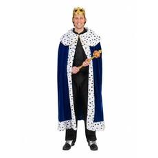 Koningsmantel man blauw