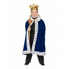Koningsmantel kind blauw