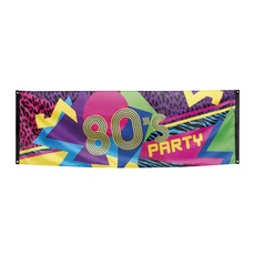 Banner 80' disco party