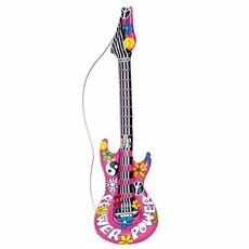 Opblaasbare hippie gitaar 105 cm