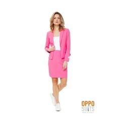Dames kostuum roze chique