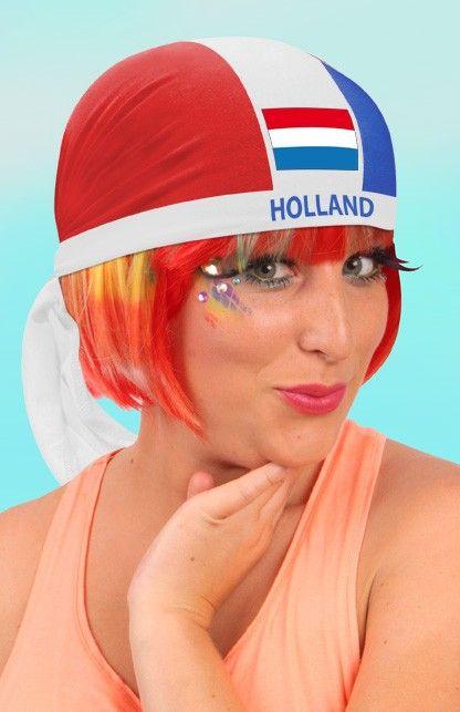 Bandana Holland rood/wit/blauw