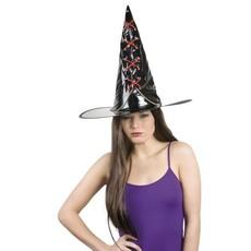 Heksen hoed met rode veter