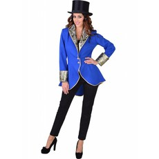 Circus slipjas dames blauw luxe