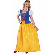 Sneeuwwitje jurk dames lang