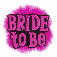 Broche zwart 'Bride to Be'