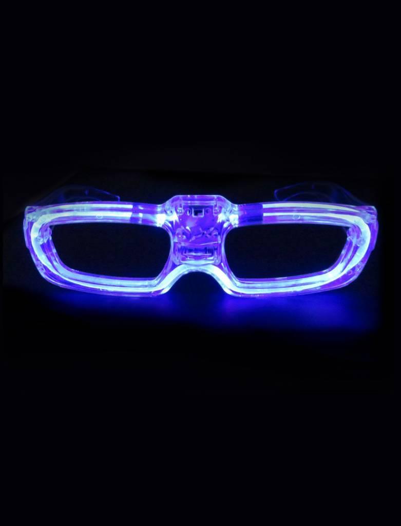 Bril met LED verlichting - Feestbazaar.nl