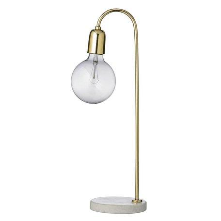 tafellamp goudkleurig met marmeren voet