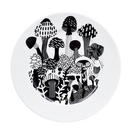 bord 25 cm. mushrooms