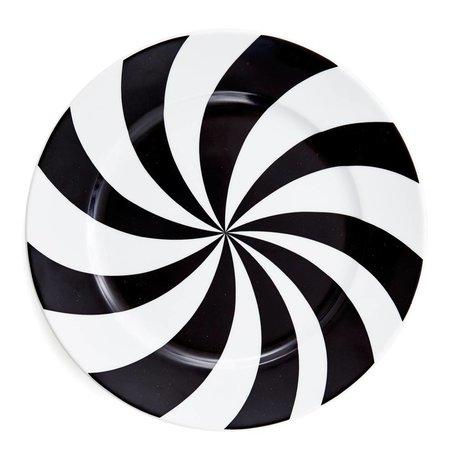 bord 25 cm. Hypnotise zwart