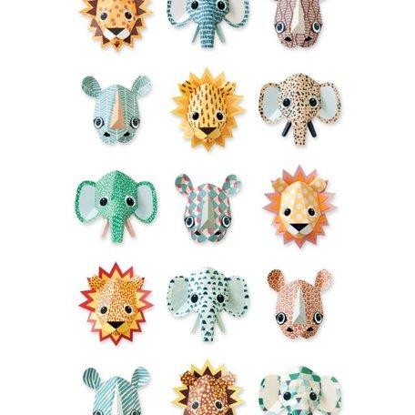wilde dieren behang cool