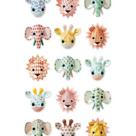 wilde dieren behang lief