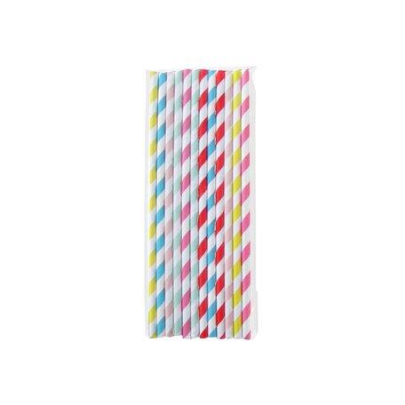 24 gekleurde papieren rietjes