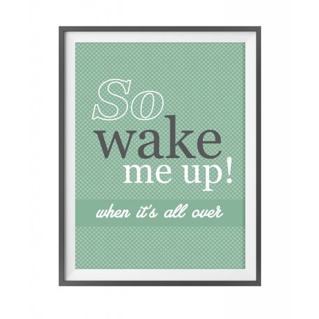 poster so wake me up!