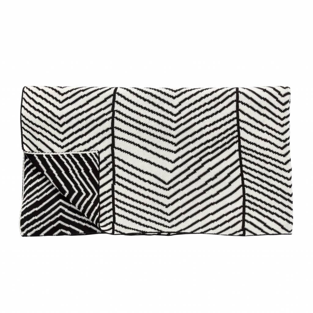 Hubsch plaid zwart wit ippys - Deco corridor zwart wit ...