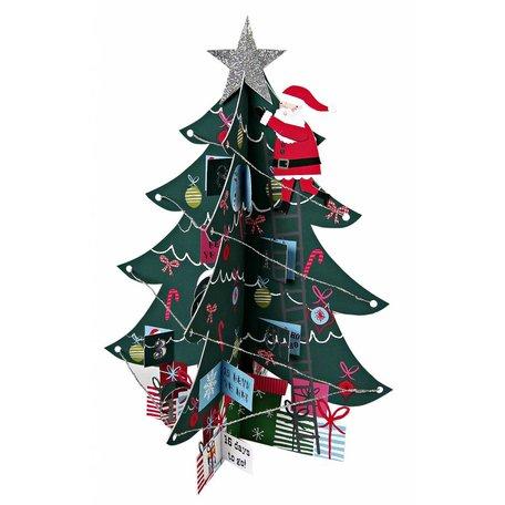 XL 3D kaart kerstboom