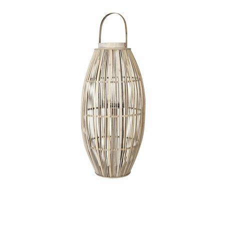 Windlicht Bamboo hout XL