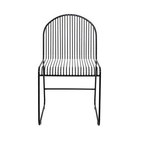 Zwarte metalen stoel