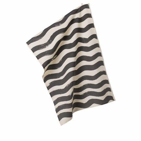 tea towel Ride the wave grey