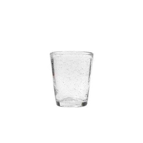 Glas met bubbels, helder
