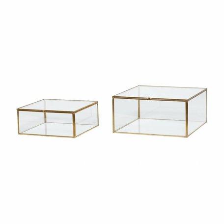 Glazen organizer voor op bureau
