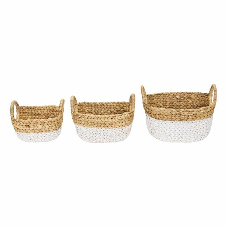 Set van drie manden Hyacint white