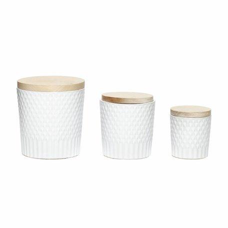 Stenen potten, wit