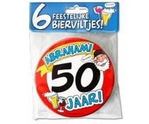 50 jaar Abraham. Bierviltjes Abraham 50 jaar