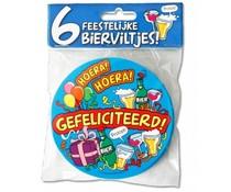 Gagets Bierviltjes Gefeliciteerd