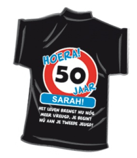 sarah 50 jaar pakket T Shirt 50 jaar Sarah   Cadeauwarenshop.nl sarah 50 jaar pakket
