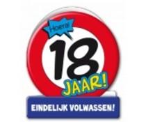 18 jaar verkeersbord