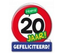 20 jaar verkeersbord