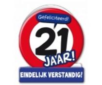 21 jaar verkeersbord