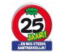 25 jaar verkeersbord