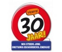 30 jaar verkeersbord