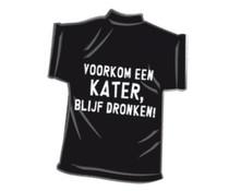 T-Shirtje-Voorkom een kater