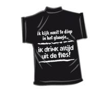 T-Shirtje-Te diep in het glaasje