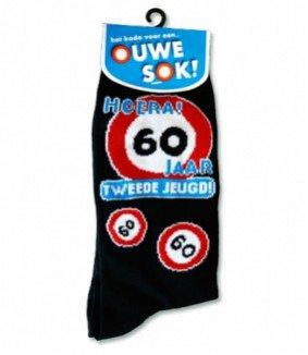 Iets Nieuws Gadgets Sokken - 60 jaar - Cadeauwarenshop.nl @CM95