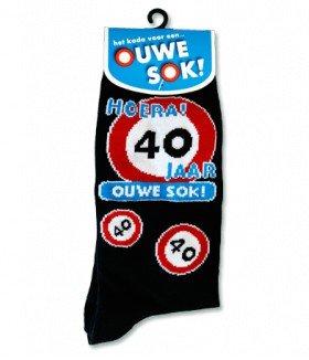 Populair Gadgets Sokken - 40 jaar - Cadeauwarenshop.nl #YU01