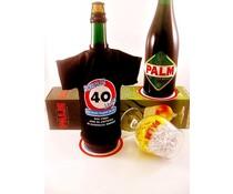 Bierpakket Bierfles T-Shirt | Hoera 40 jaar!