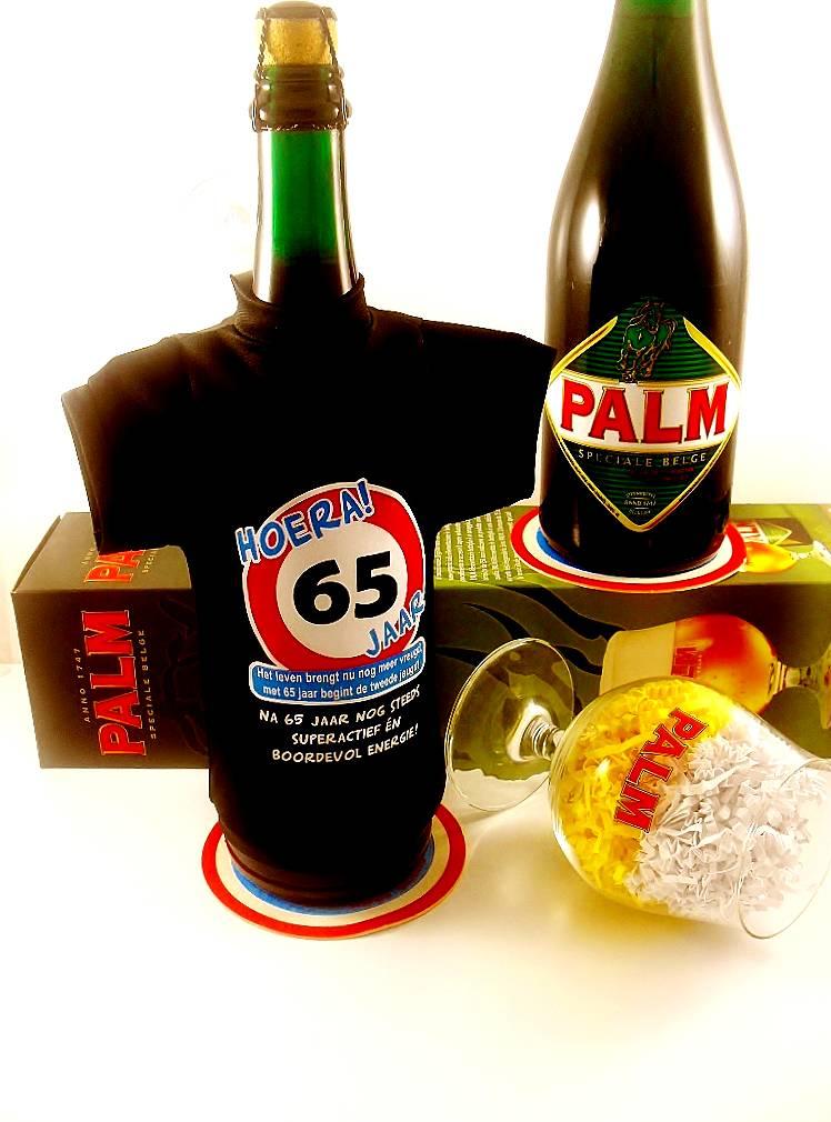Vaak Bierpakket Bierfles T-Shirt | Hoera 65 jaar! - Cadeauwarenshop.nl &ZR76