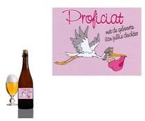 Bierpakket Bierfles Proficiat met geboorte van jullie dochter